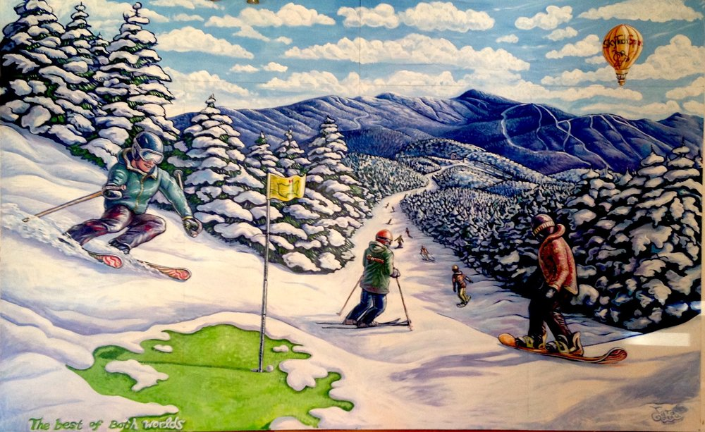 'The Best of Both Worlds' Gonzo's Indoor Golf (and ski) Mural, 2015