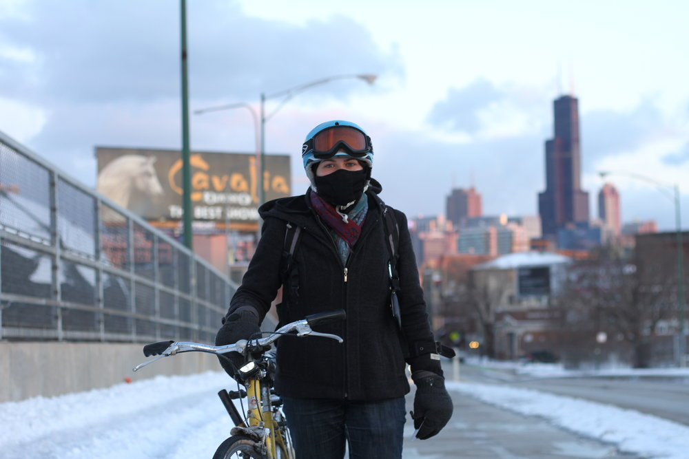"""Living in Wicker Park, it's really hard for me to ride east. I think the city has made a lot of strides in bike infrastructure but there are still many opportunities for improvement."" Cassandra"