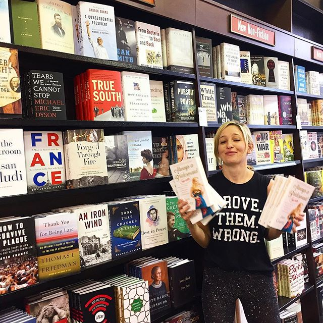 This goofball's book just came out TODAY and it's freakin AWESOME. @jenglantz is taking over Barnes and Nobles around the country!