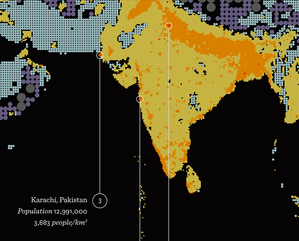 india and pakistan - dehli and karachi are second and third most populous cities