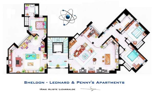 fun floor plans from tv land planning design bermuda rh planningdesignbda com Floor Plans From TV Shows TV Clip Art for House Plans