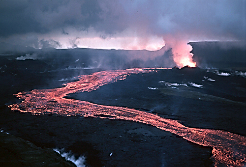 Lava flow in Iceland, where researchers hope to build the world's most powerful geothermal plant to date.