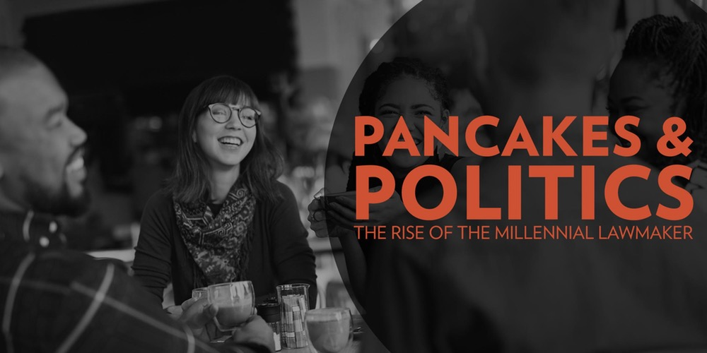 Pancakes & Politics is a quarterly series held by the Indy Chamber where local businesspeople and elected officials come together to network and hear from policy experts.