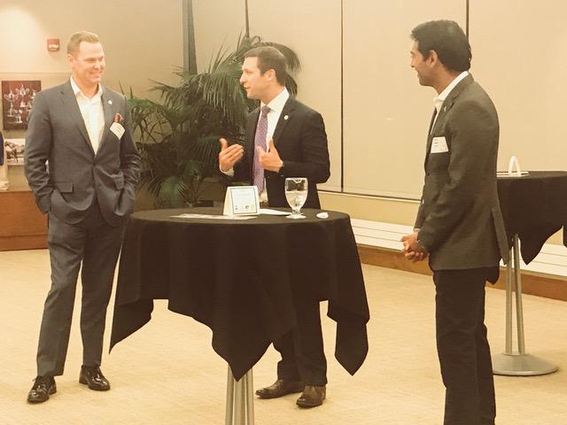 Pictured left to right: Sen. Brett Lindstrom, Sen. Adam Morfeld, and Millennial Action Project Founder & President Steven Olikara