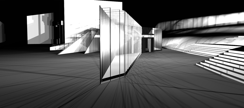 Night Rendering of a Light Experiment