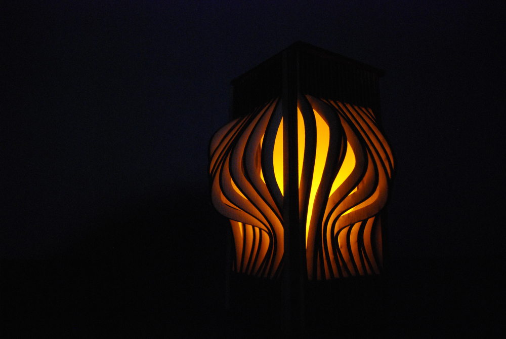 A lamp created as a preliminary exercise to understand the relationship between form and light which manifested itself into the building concept.