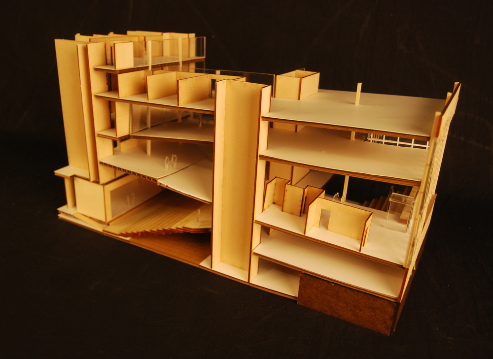 Sectional Model of UArts Student Center