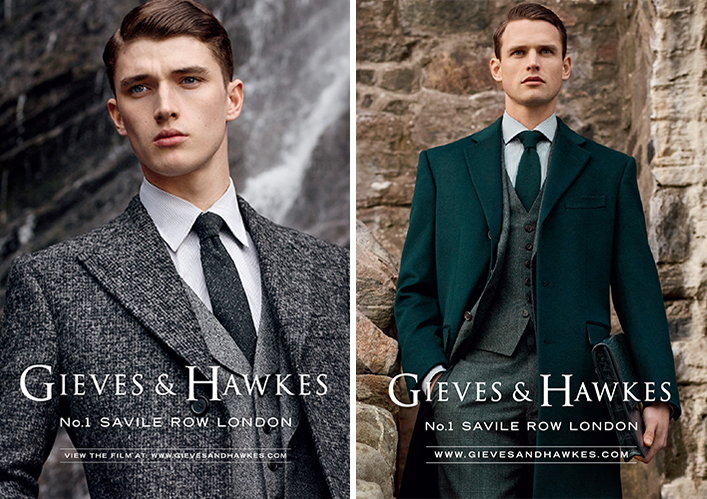 Gieves & Hawkes AW14 Campaign. Grooming by Lee Machin.