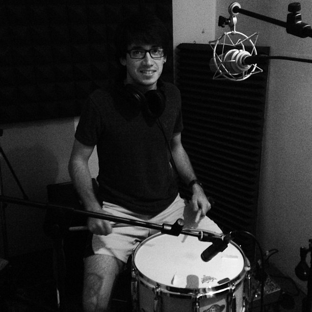 Snare Drum Recording at Momotombo Productions - 2013 - Nicaragua