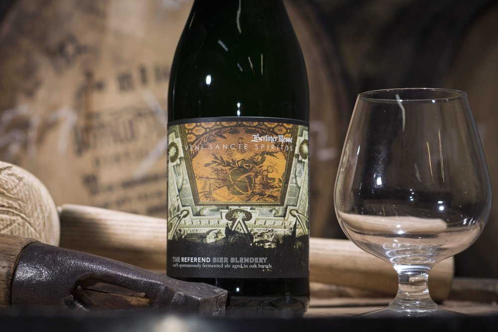 Berliner Messe - Veni Sancte Spiritus - 2016/17: Aged in 11-year Buffalo Trace rye whiskey barrels2017: Fermenting...