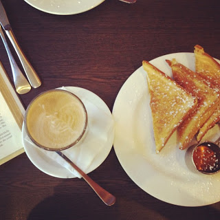 Tuesday french toast and latte with mum