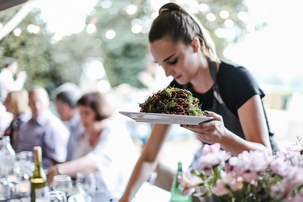 Raw beetroot salad with an abundance of herbs. Photo cred:  Brown Paper Parcel .