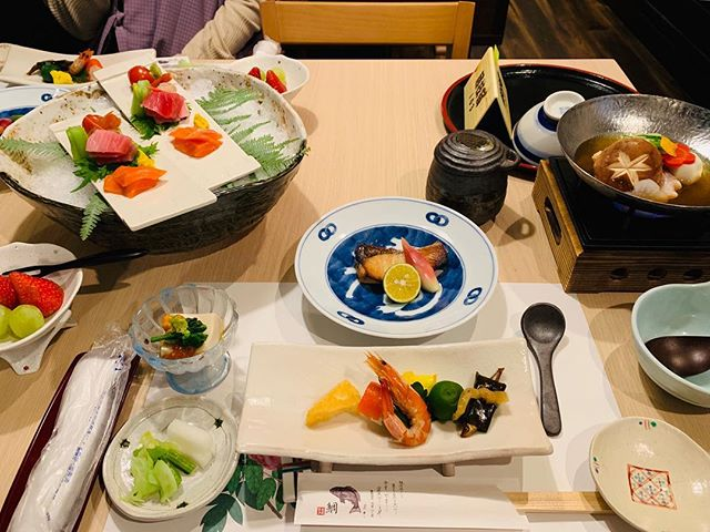 Traditional Kaiseki dinner at our ryokan #Japan #hakone #onsenryokan #kaiseki