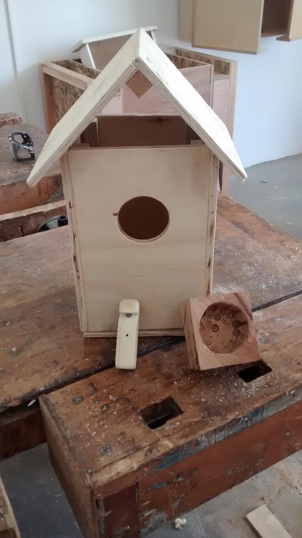 בית לציפורים, קופסא עגולה, משרוקית