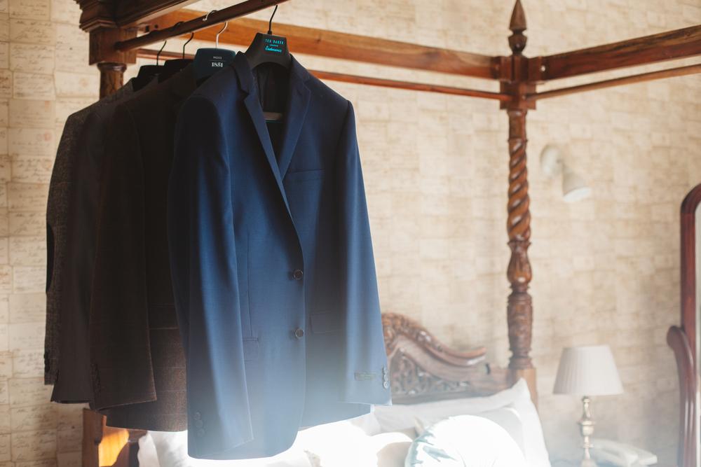 Groom moss bros suit