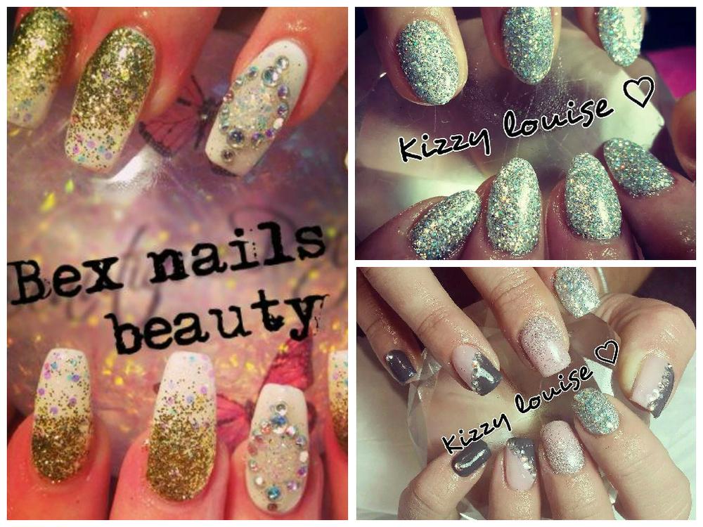 funky wedding nails