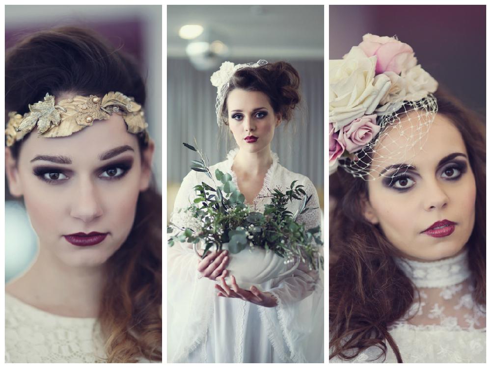 vintage bridal make up