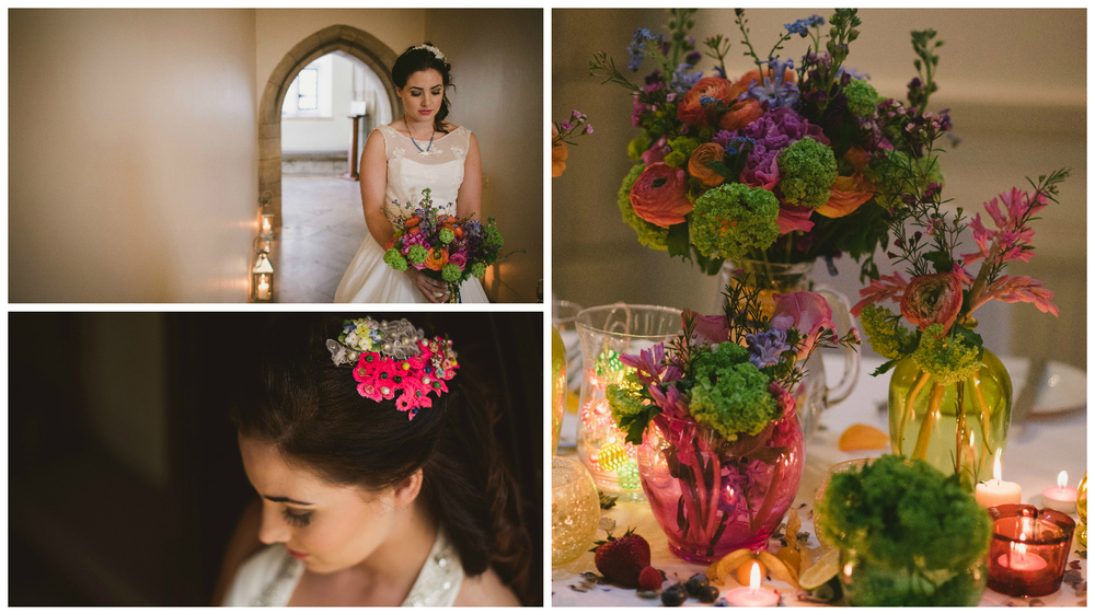To really add colour, ask your florists to think outside the box when it comes to flower and colour combinations.