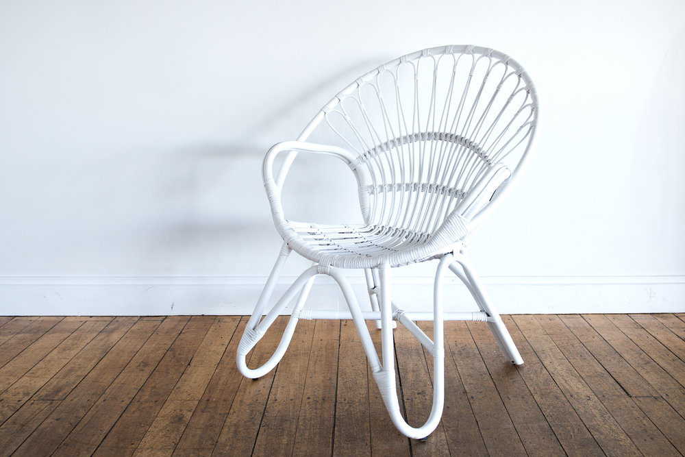 White Moon Chair I $40ea I Qty 2