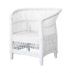 White Malawi Chair I $120 2 pc set I Qty 1