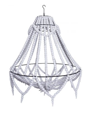 White Beaded Chandelier (Large) | $60ea | Qty 10