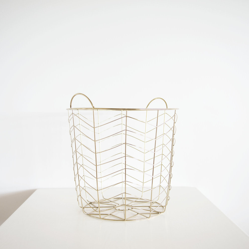 Gold Geometric Basket I $10ea I Qty 2