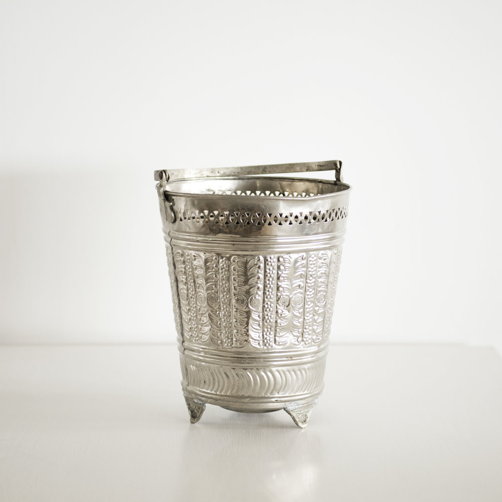 Silver Moroccan Ice bucket | $15ea | Qty 2