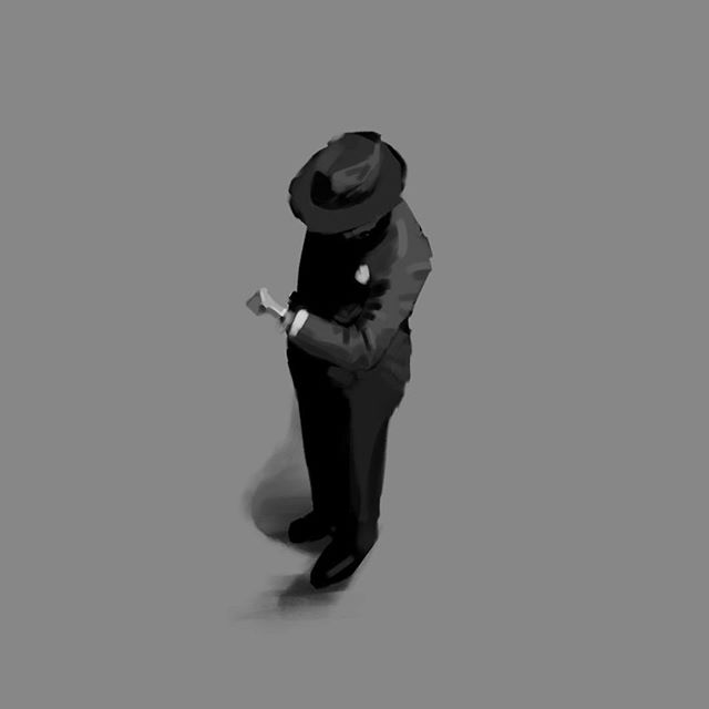 Always time for a quick drawing. Silhouette gesture study. #sketch #drawing #character #conceptart