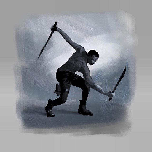 Sword Guy study.  Procreate, iPad Pro, Apple Pencil.  #lifedrawing #sketch #gesturedrawing #art @procreate