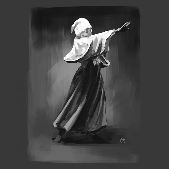 Magic Man. iPad Pro, Apple Pencil, Procreate.  #sketch #figure #gesture #practice @procreate
