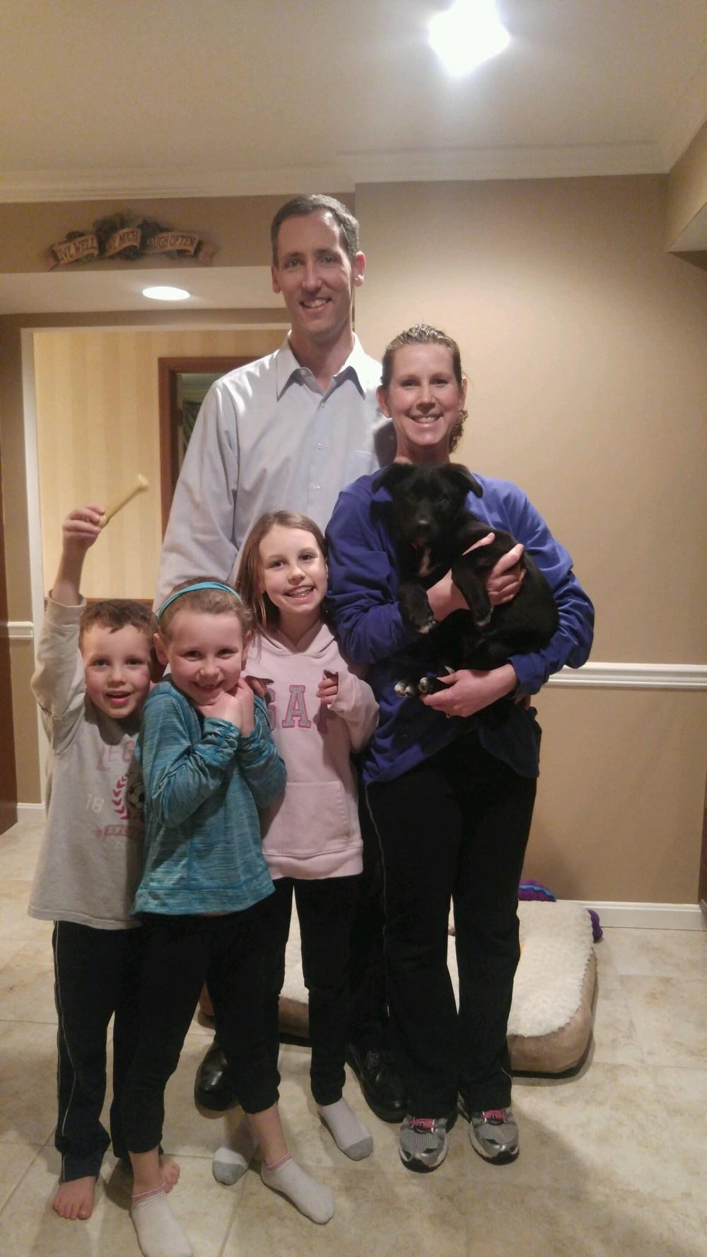 The Hoffman family decided Crusoe would be the perfect addition to their loving family!