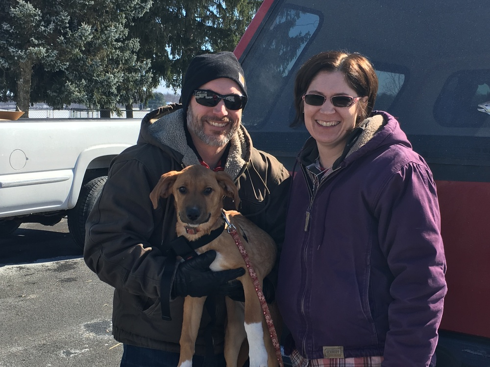 The Woodley family fell in love with sweet Maryann and were so excited to add her to the family!