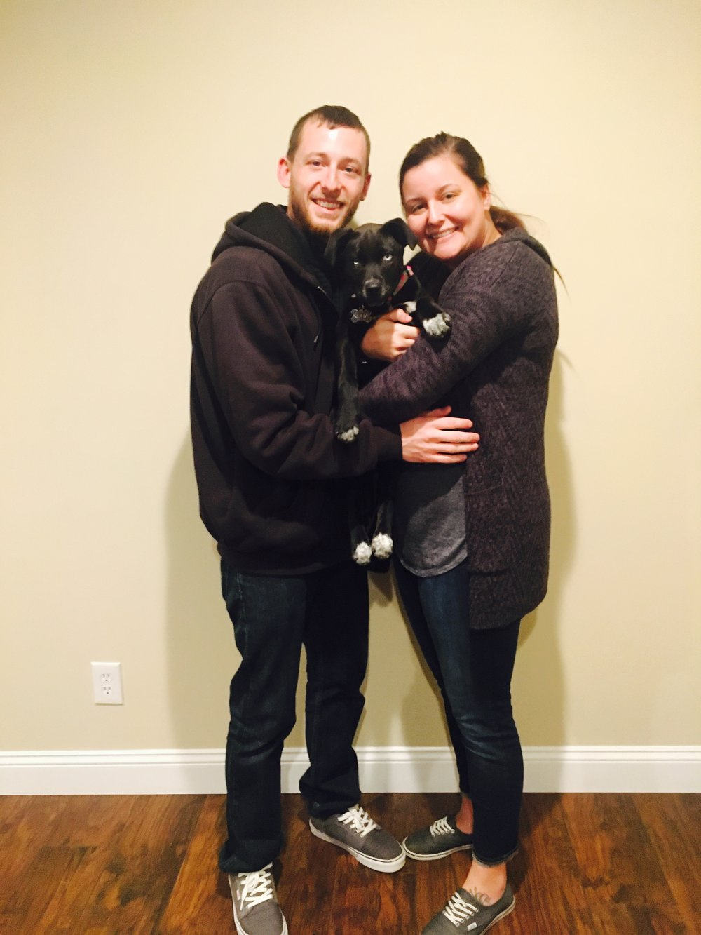 Sweet Mercy is adored by her new mom and dad and has two furry siblings at home too!