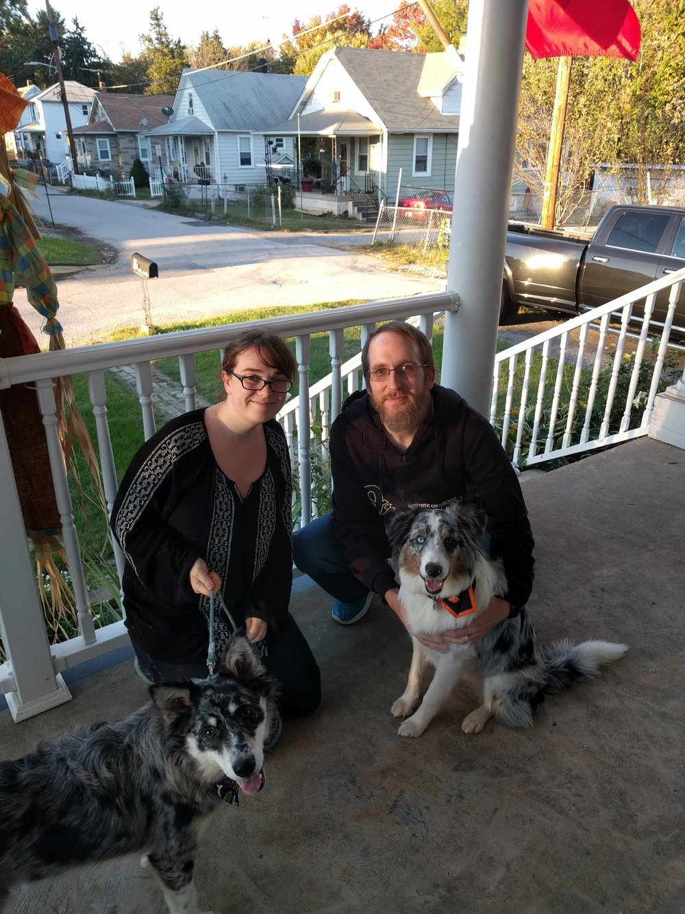 Bindi (L) and her great new family!