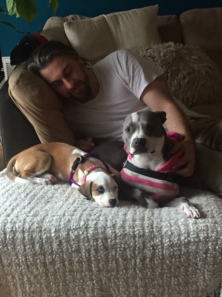 Daisy (now Esme) and her Daddy and sister; so sweet!
