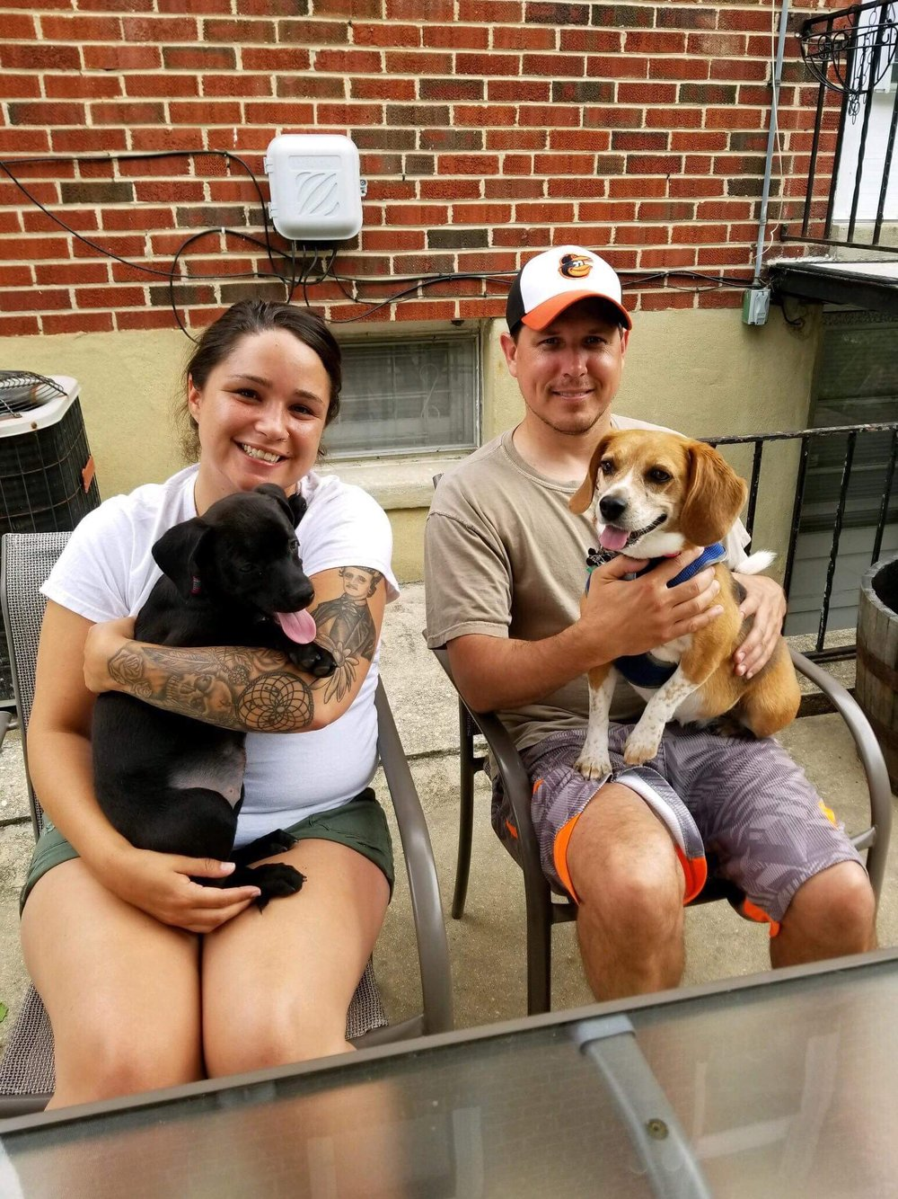 Delaney (left) with her sweet new family!