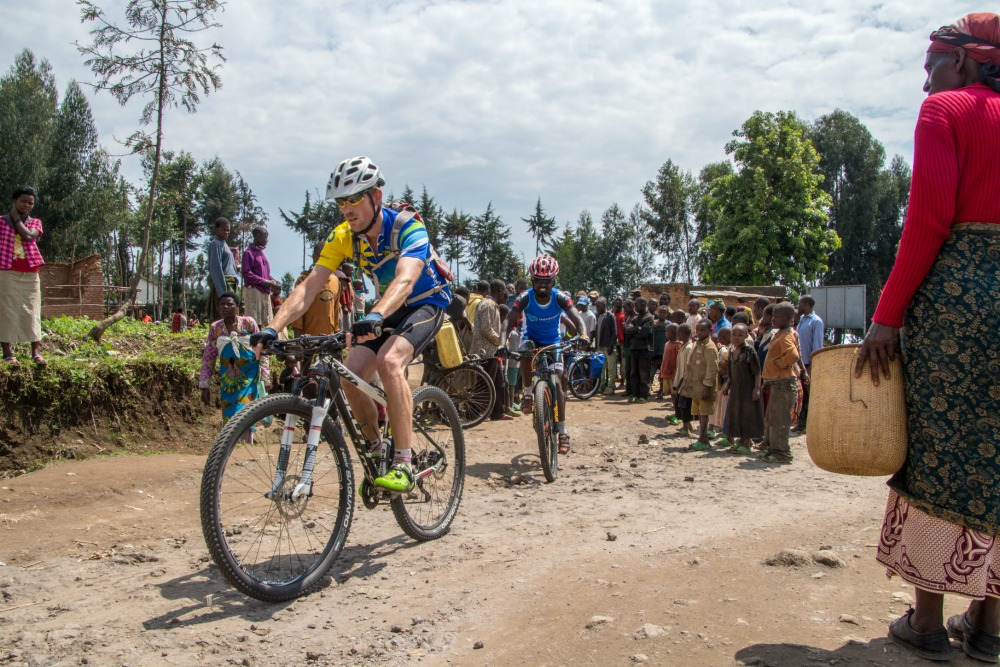 David on his way through a village in the Northern Province.