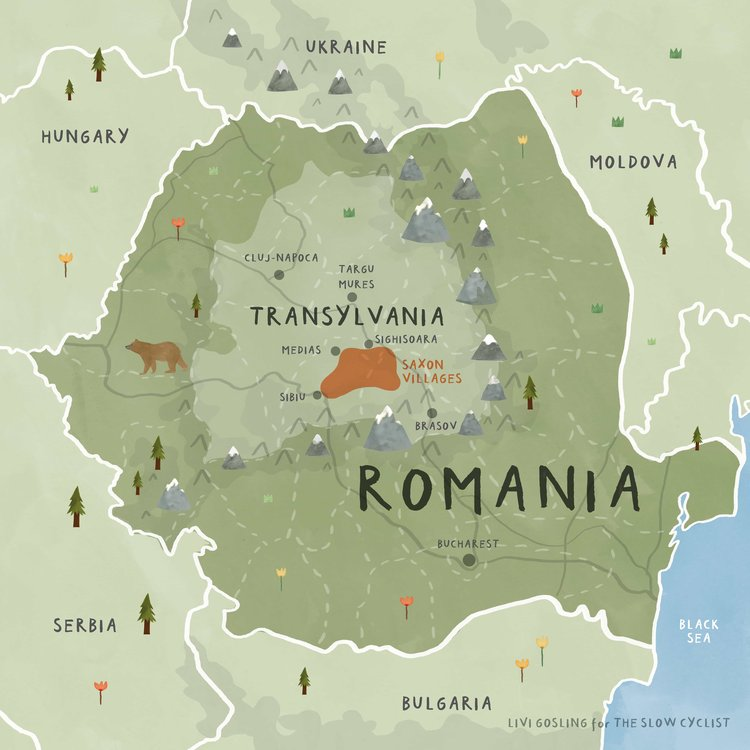 Cycling Holidays Transylvania Romania Guided Group Tours - Where is romania on a map