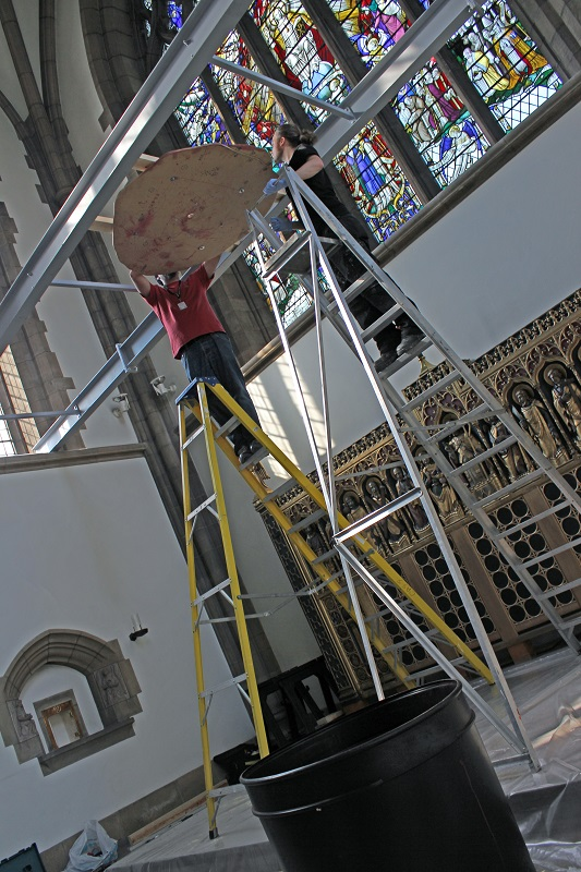 Image 3- tech team installing Cyber Iconic Man - Copy.JPG