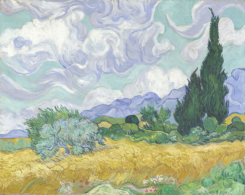A Wheatfield, with Cypresses by Vincent van Gogh. Photo Credit: The National Gallery