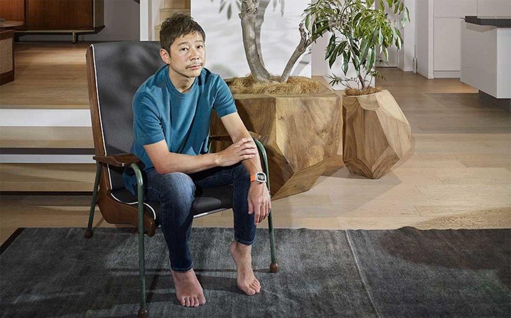 Japanese art-collecting billionaire Yusaku Maezawa- interview at home.jpg