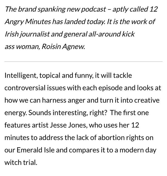 Thank you so much to @image.ie for the shout out for Twelve Angry Minutes 🙌🏽 Have a listen👂🏼(it's just around 30 minutes) and subscribe on iTunes 🎧link in bio🎧