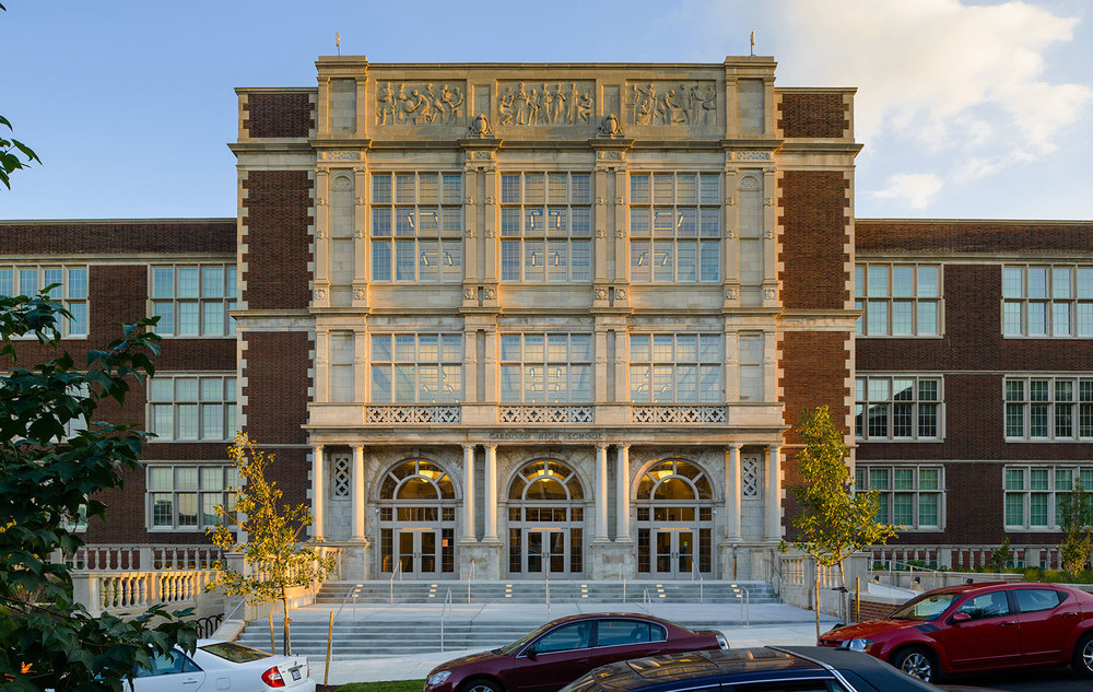 Cardozo High School    2016   AIABaltimore Design Award   2016   AIA NOVA Jurors' Citation in Historic Architecture   2015  John Russell Pope Award  2014  AIA|DC Chapter Design Award for Excellence in Historic Resources  2013  DC Historic Preservation Award