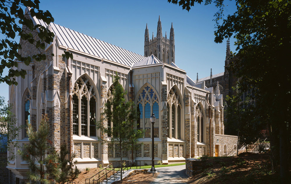 Duke University Divinity School Addition    2012  Building Stone Institute Tucker Award  2009  Shutze Awards - Excellence in Traditional Design  2006  AIA|DC Chapter Design Award for Historic Resources  2006  AIA - Interfaith Forum on Religion, Art, & Architecture Awards Program  2006  Marble Institute of America Pinnacle Awards  2005  Southeast Construction's Best of 2005 - Award of Excellence