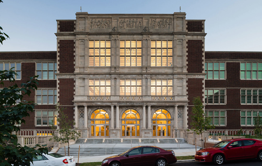 Cardozo High School Design Architect: Hartman-Cox Architects // School Architect: Grimm + Parker Architects