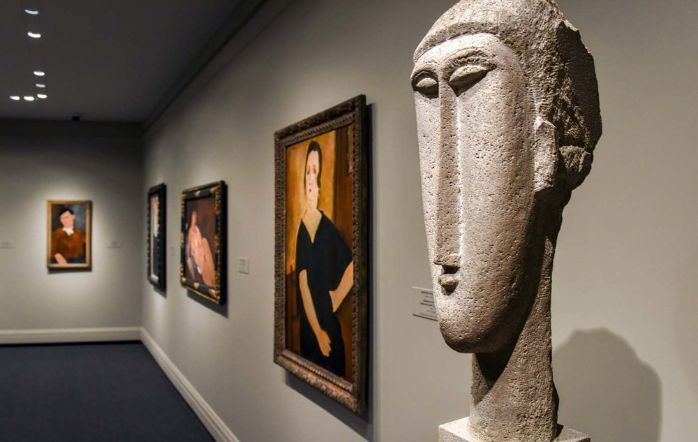 A stunning room devoted entirely to Modigliani is located on the ground level. (Bill O'Leary/The Washington Post)
