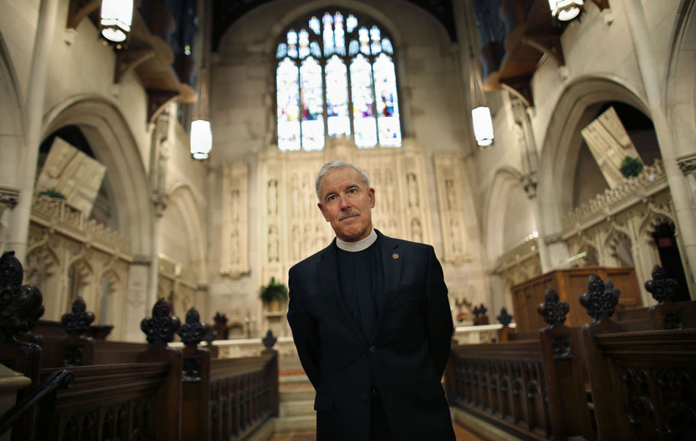 The Rev. Canon Win Lewis and his congregation at Christ & St. Luke's Episcopal Church in Norfolk worry increasingly about the threat rising sea levels pose to their historic church.