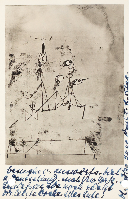 Postkarte (recto)von Lily Klee, Bern an Hermann und Margrit Rupf, 23.6.1938, Kunstmuseum Bern, Hermann und Margrit Rupf-Stiftung, Archiv © Rupf-Stiftung, Bern