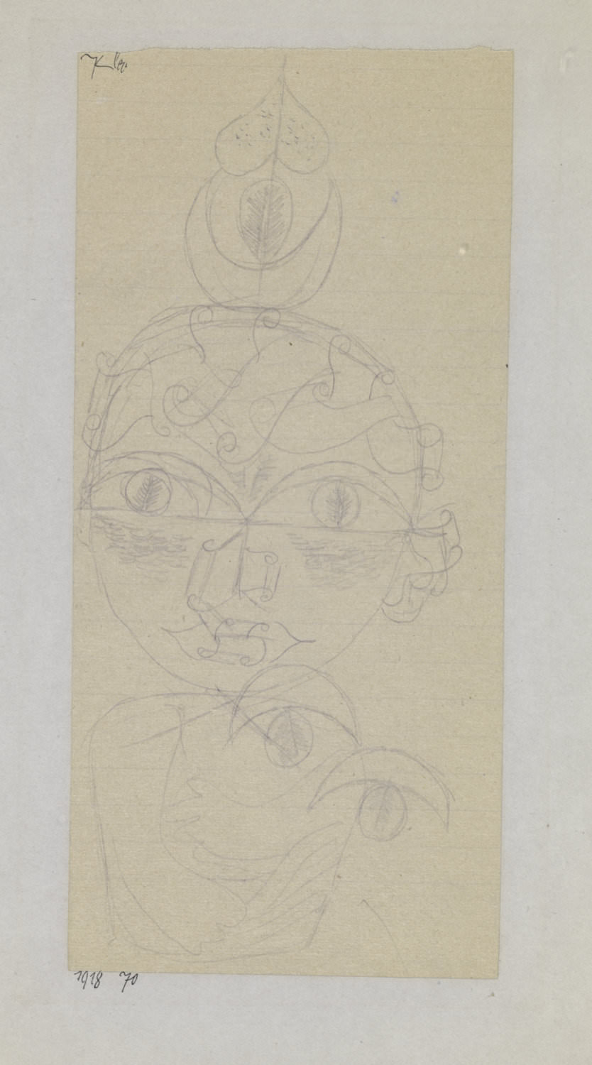Paul Klee,  Kind , 1918, 70, indelible pencil on paper on cardboard, 22,6 x 10,5 cm, Zentrum Paul Klee, Bern © Zentrum Paul Klee, Bern, Bildarchiv