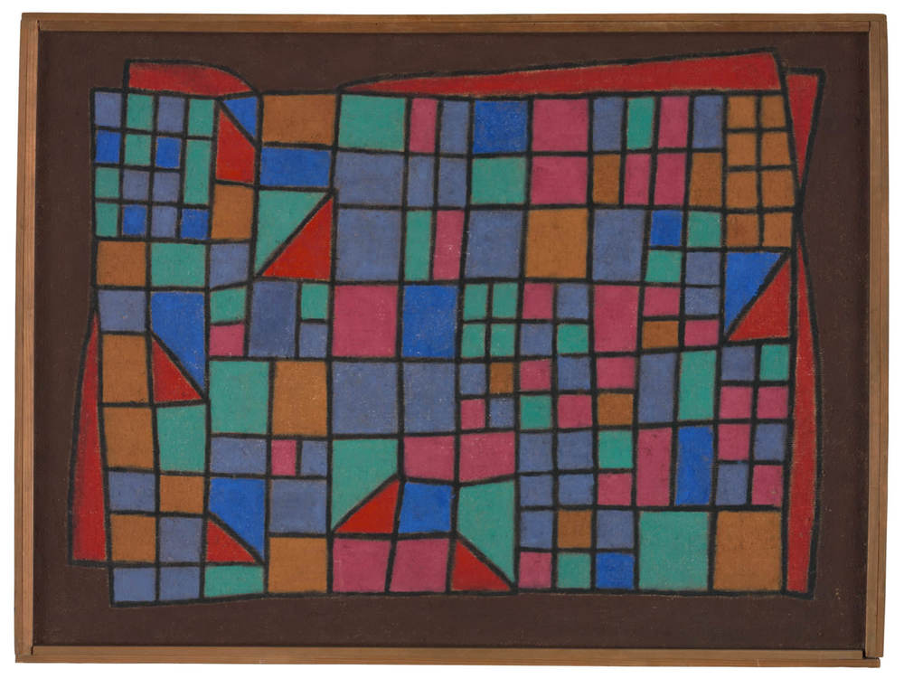 Abb. 1:Paul Klee,Glas-Fassade, 1940, 288,Wachsfarbe auf Jute auf,Leinwand, 71,3 x 95,7 cm,Zentrum Paul Klee, Bern © Zentrum Paul Klee, Bern,Bildarchiv